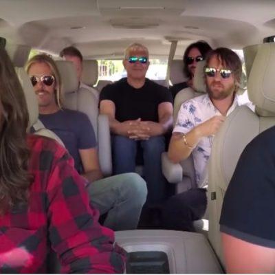 Los Foo Fighters protagonizan uno de los mejores carpool karaoke de la historia - Foto: captura de pantalla.