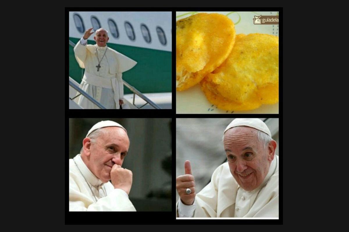 La llegada del papa a Colombia en 'memes'