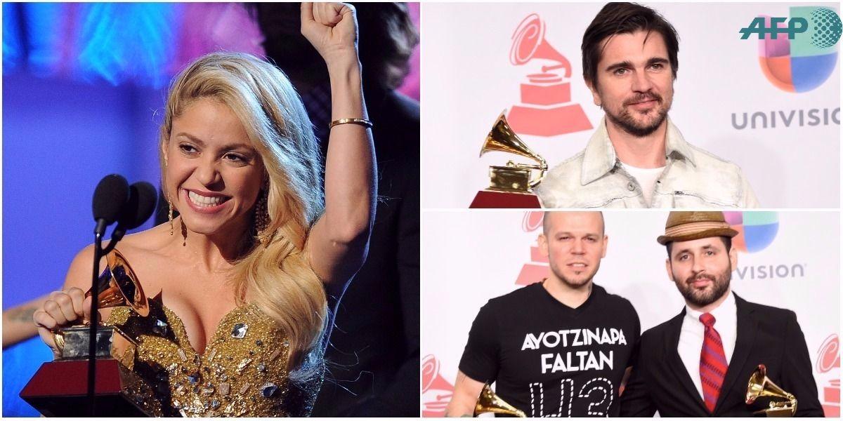 Portada 'Latin Grammy' Top 6 de los más ganadores en la historia / FOTO: AFP