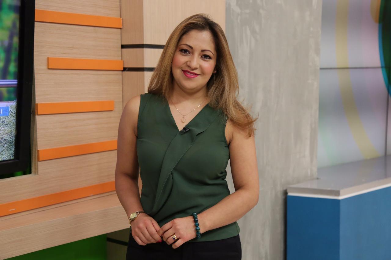 """Esperanza Cruz en """"Acá Entre Nos"""" / FOTO: Laura Vallejo - Digital Canal 1."""