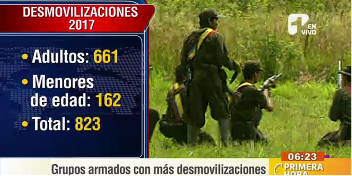 Así van las cifras de desmovilizados en el país - Foto: captura de pantalla.