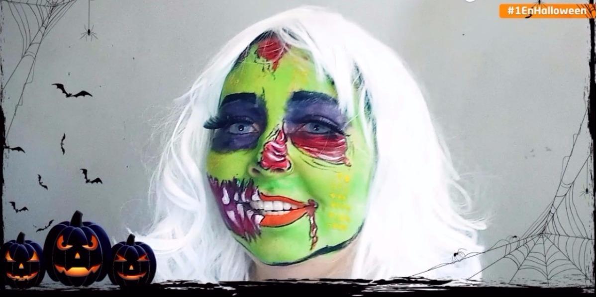 Tips para maquillarse como un zombie pop arte en Halloween - Foto: Digital Canal 1.