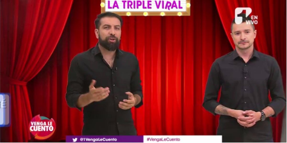 Los candidatos de la Triple Viral en Venga le Cuento - Foto: Captura de pantalla.