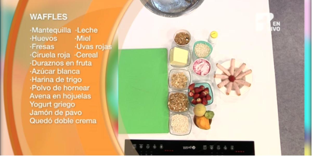 Aprende a preparar unos ricos waffles para el desayuno - Foto: captura de pantalla.