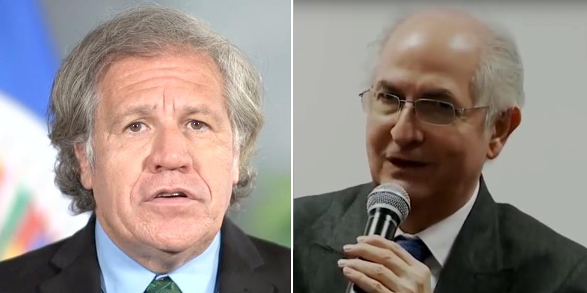Almagro cuestiona diálogo para superar crisis en Venezuela