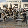arte chino Plaza de Bolívar gorditas