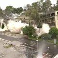 implosion edificio ministerio de transporte