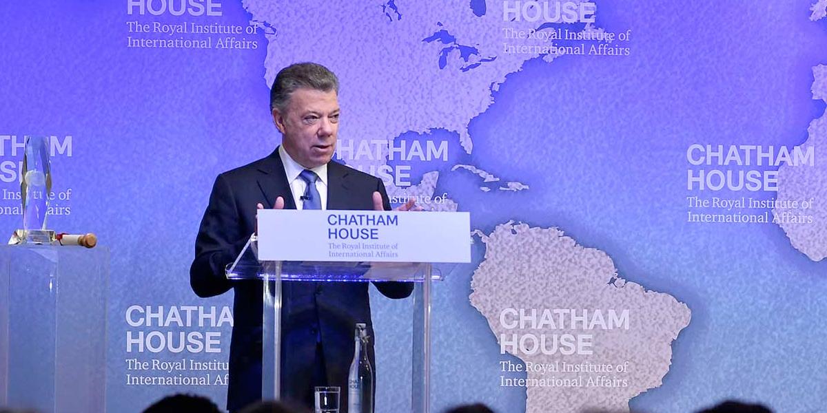 Santos recibe este jueves en Londres el Premio Chatham House 2017