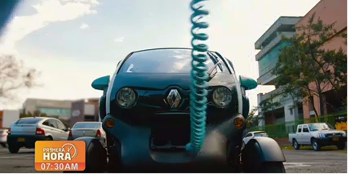 Un app para alquilar carros eléctricos en Bogotá - Foto: captura de pantalla.