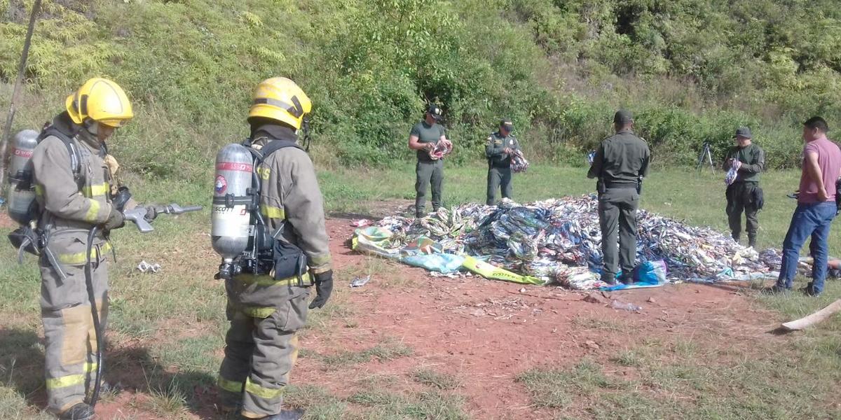 Policía de Cali incautó 1250 kilos de pólvora