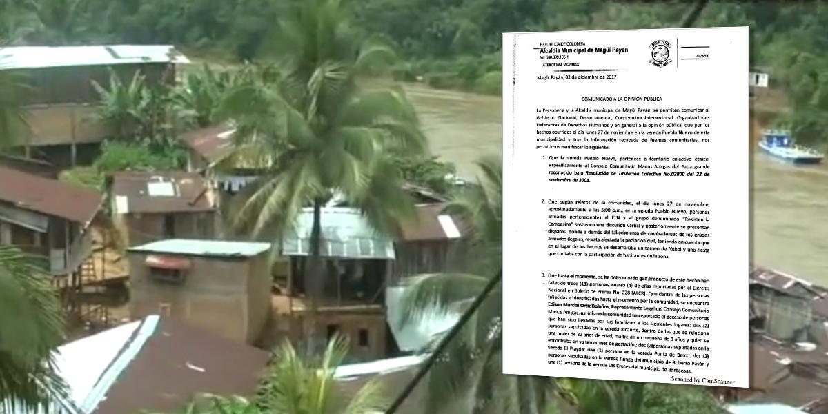 Masacre en Magüi Payán generó desplazamiento de más de 70 personas