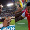 Ayron del Valle Vs Wilson Morelo ¿Quién es el mejor? - Fotos: por cortesía y tomadas de Millonarios.com.co e Independientesantafe.com