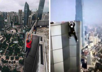 wu-yongning weibo escalador de edificios