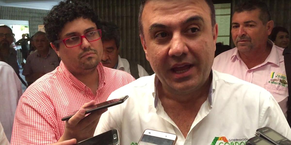 Fiscalía imputará al gobernador de Córdoba, Edwin Besaile