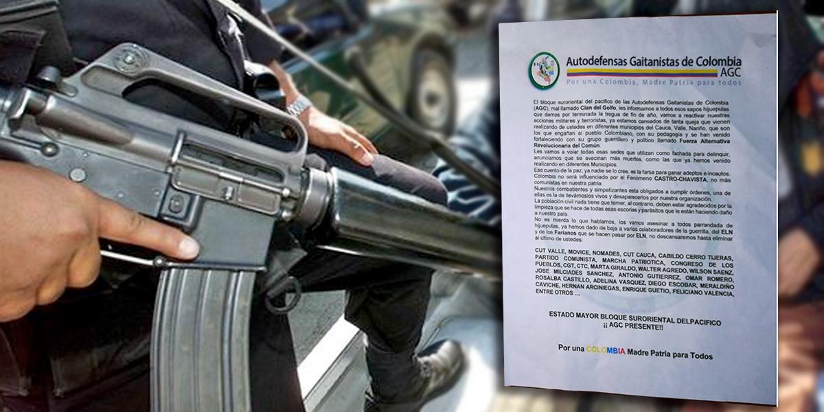 Paramilitares amenazan con volar sedes de la FARC en Colombia