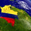 colombia desde el espacio nasa mapa suramerica tierra - 123rf