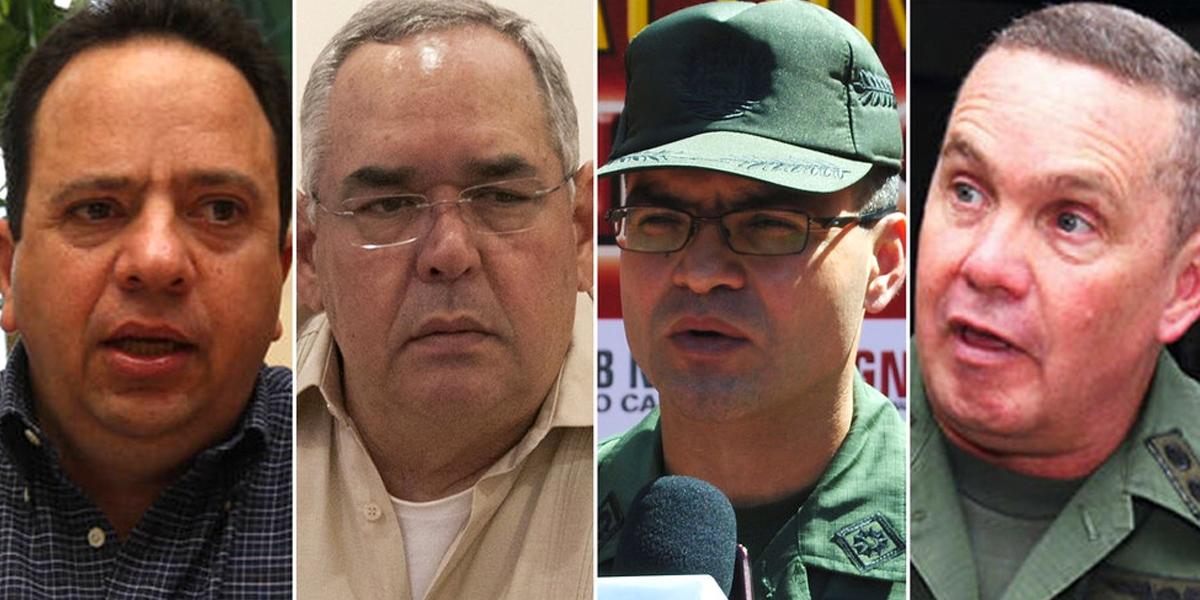 Estados Unidos pone a cuatro venezolanos en su lista de embargos