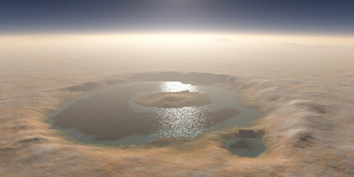 Científicos descubren hielo de agua limpia bajo superficie de Marte