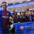 Una divertida y curiosa entrevista de Yerry Mina con los medios del Barca - Foto: PAU BARRENA / AFP