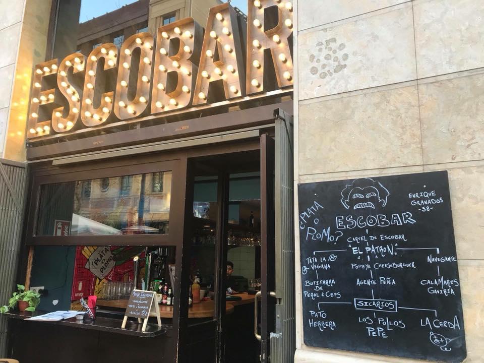 Este restaurante de Barcelona causa indignación por homenajear a Pablo Escobar