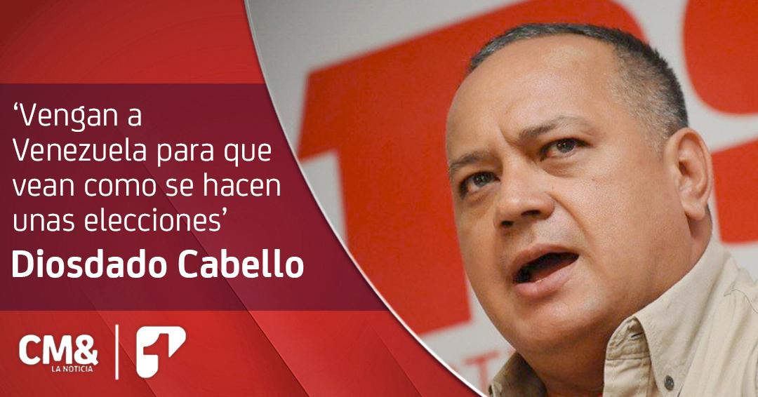 Diosdado Cabello afirma que sistema electoral colombiano no es transparente