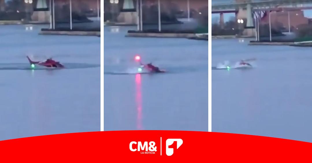 Captan accidente de helicóptero en Nueva York