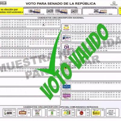 tarjetón congreso como marcarlo voto valido elecciones legislativas video