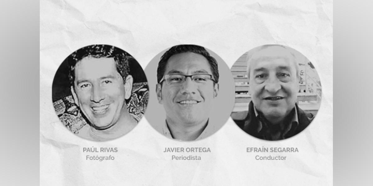 Autoridades analizan supuestas fotografías de periodistas ecuatorianos secuestrados