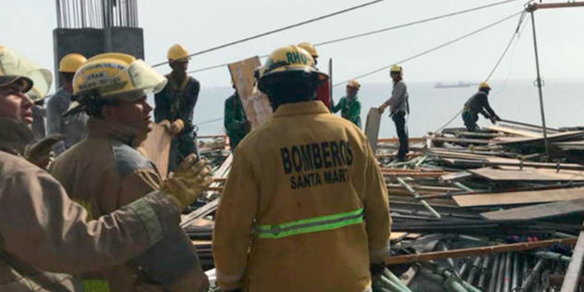 Desplome en la plataforma del Hilton dejó 9 heridos — Santa Marta