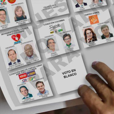 voto en blanco elecciones presidenciales afp y registraduria
