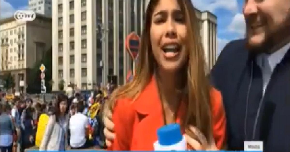 El acoso en vivo a una periodista colombiana durante el Mundial