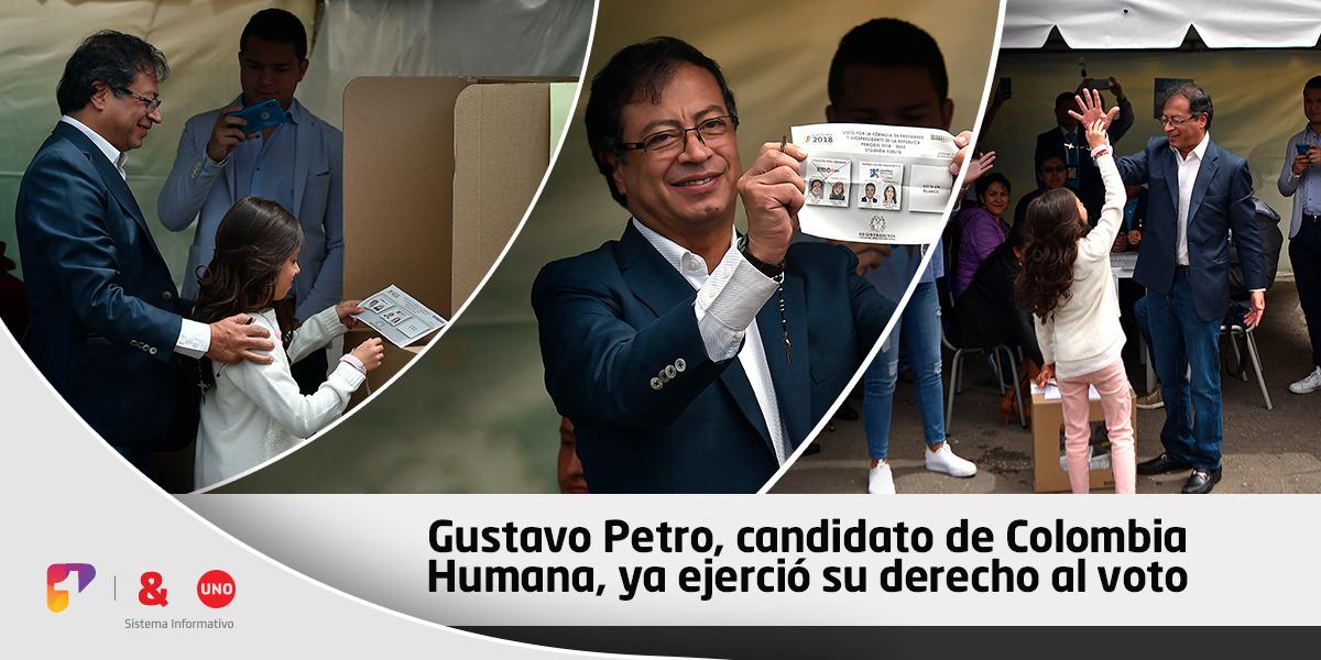 """""""Aquí está la gente diferente"""": Gustavo Petro y su mensaje tras votar"""