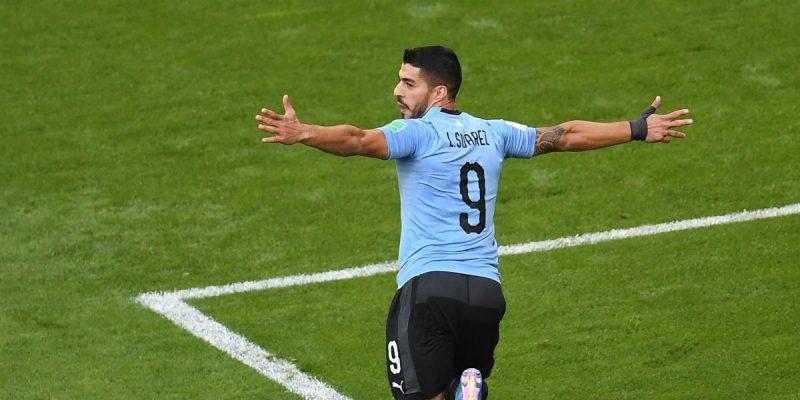 luis suarez gol uruguay rusia mundial