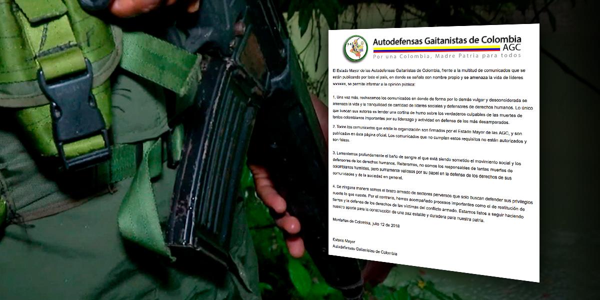 Autodefensas Gaitanistas se someterán a la justicia