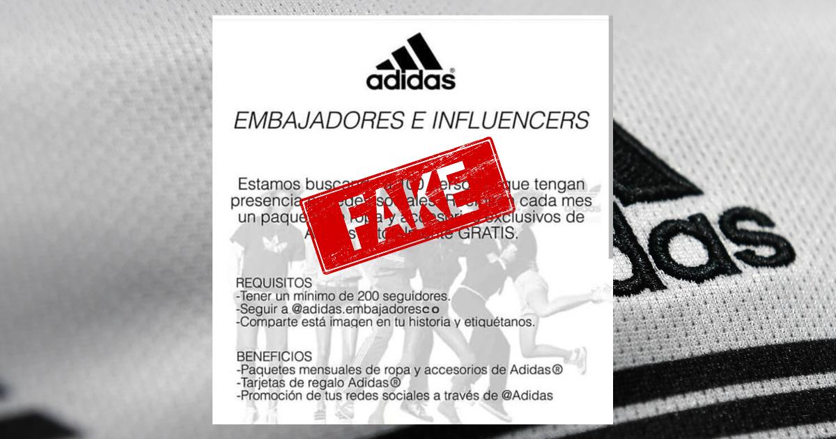 """""""Adidas embajadores"""": una estafa en la que están cayendo miles de personas en Instagram"""