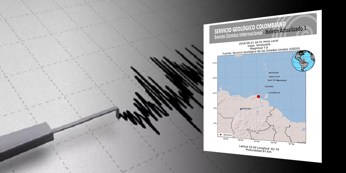 Un terremoto de 7 grados sacudió Venezuela