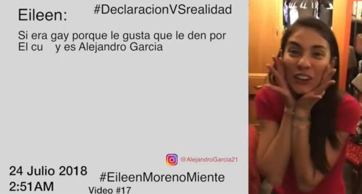 Alejandro García publica un nuevo video de su pelea con Eileen Moreno
