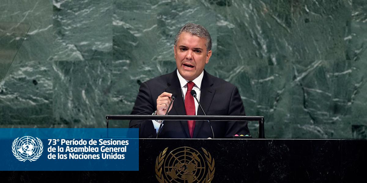 Comercio y economía: algunos temas de Duque hoy en la ONU, tras la aguda tensión con Venezuela