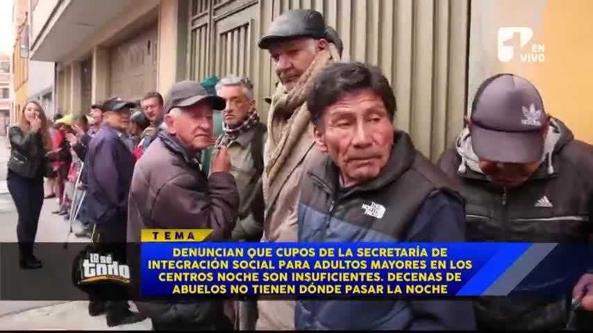 Adultos Mayores se rifan las camas en centros de la Secretaría de Integración social de Bogotá