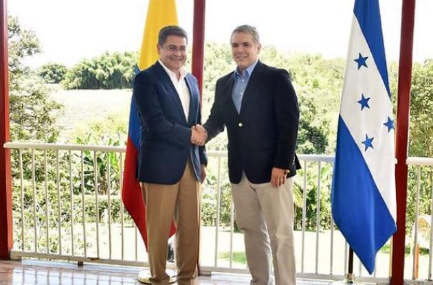 Colombia y Honduras comprometen lucha conjunta contra el narcotráfico