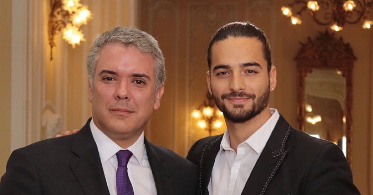 Maluma se reúne con el presidente de Colombia