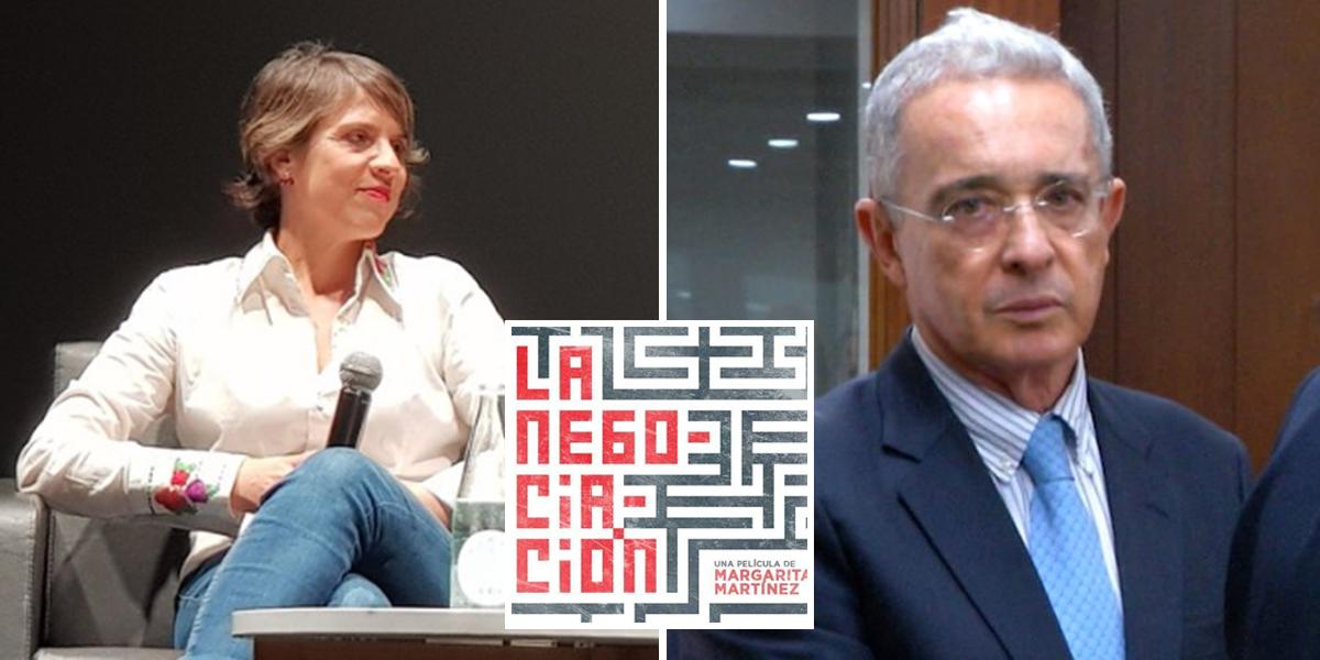 Uribe critica a Cine Colombia por documental sobre acuerdos de paz