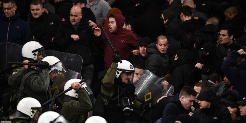 ajax aek disturbios champions league