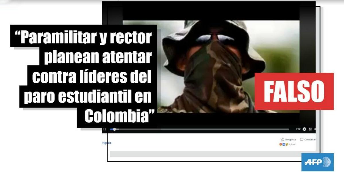 fake news de atentado paramilitares rector universidad lideres estudiantiles