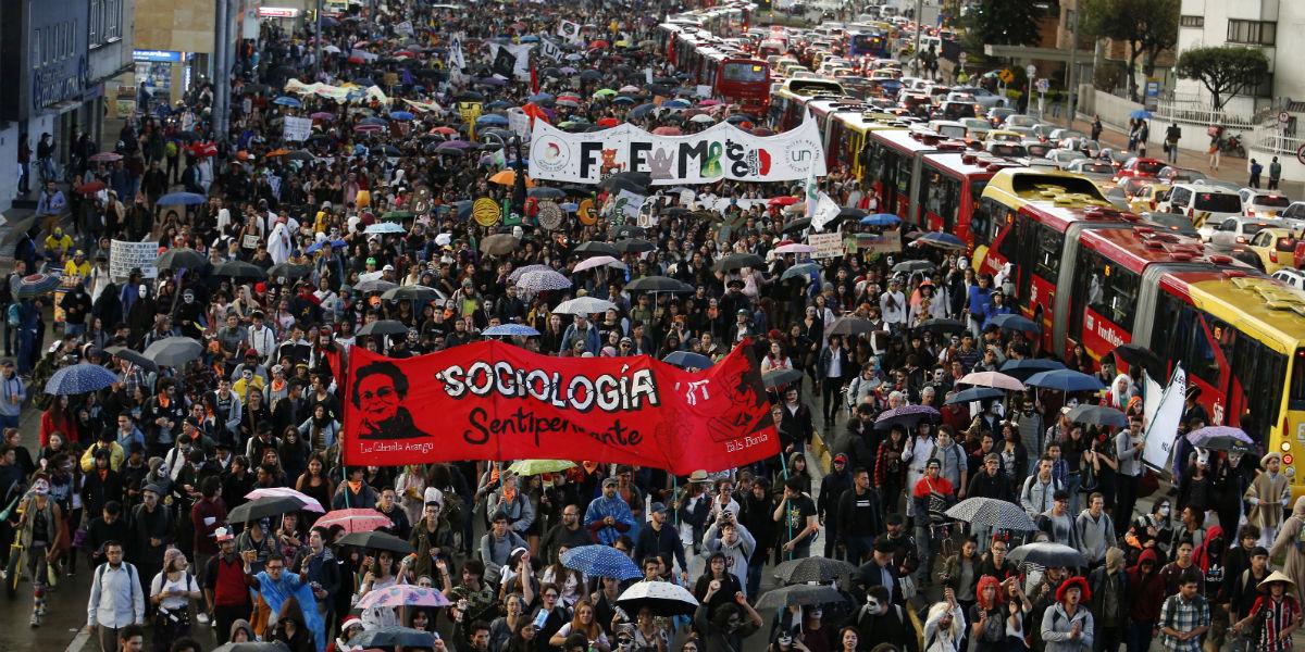 marchas estudiantes protestas movilizaciones estudiantes paro nacional 3