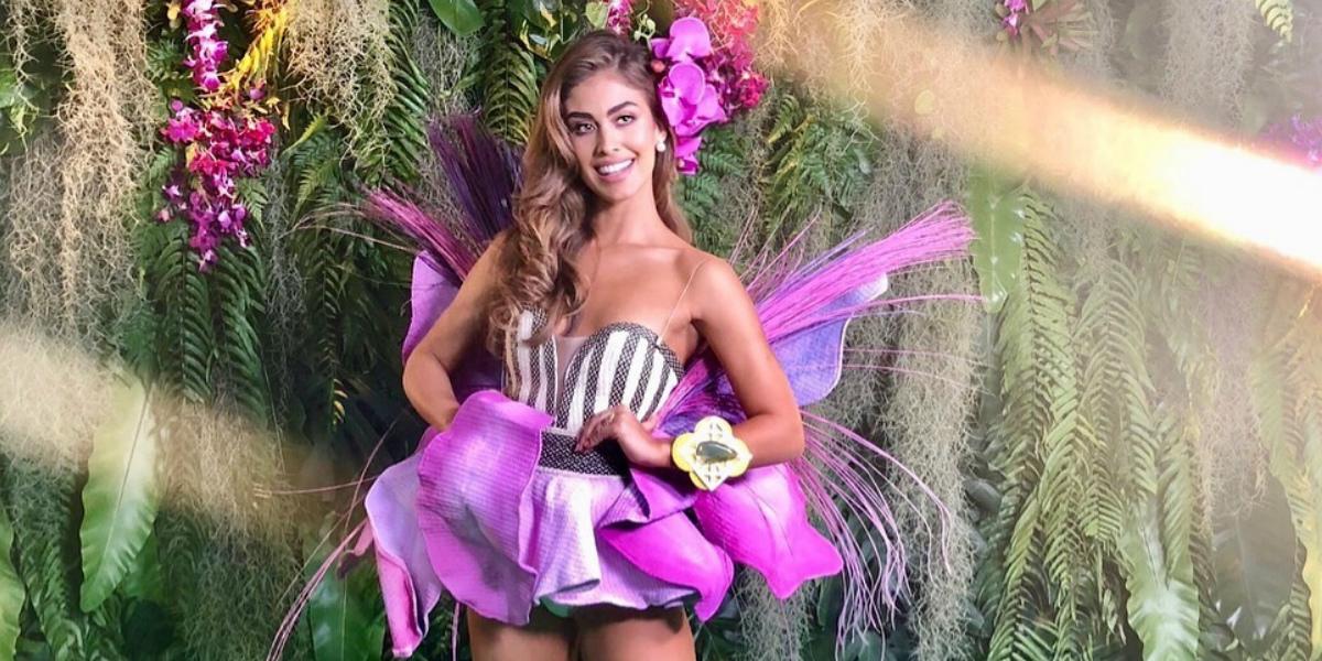 Valeria Morales, Miss Colombia estuvo en el popular programa