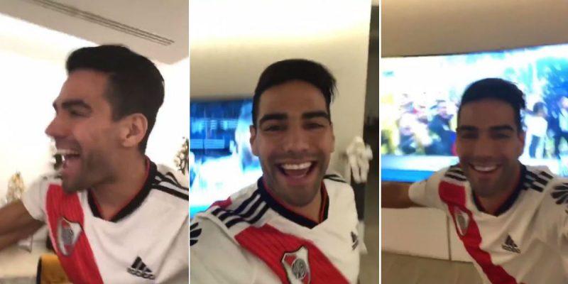 falcao garcia celebra titulo de copa libertadores river plate video