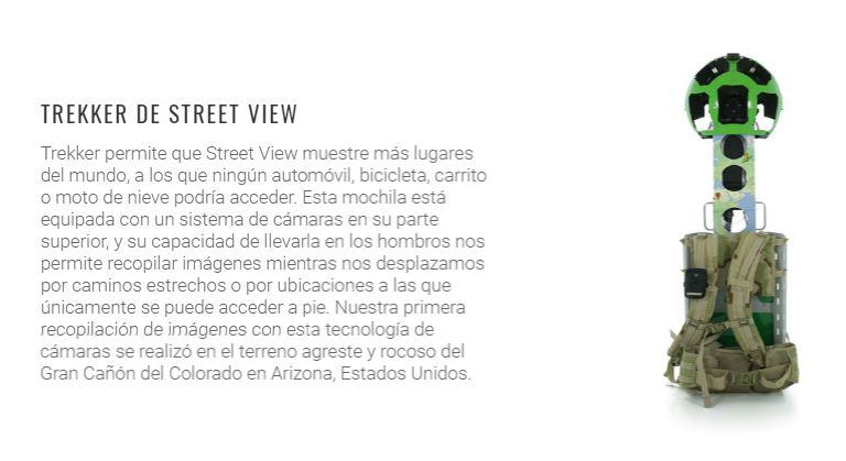 trekker street view de google camaras