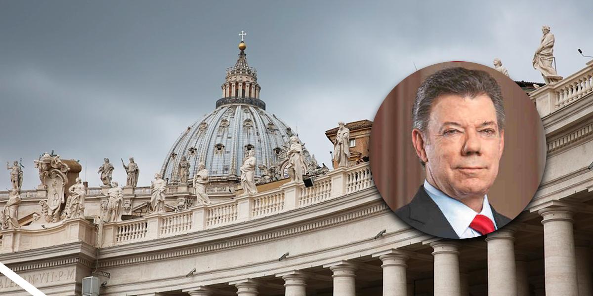 Vaticano desmiente que expresidente Santos tenga cuenta en su banco