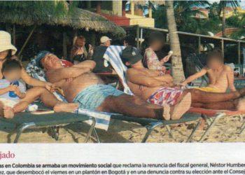 foto de vacaciones nestor humberto martinez fiscal